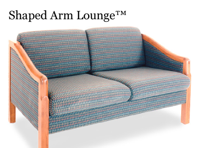 Shaped Arm Lounge